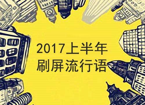 2017上半年的这些流行语,你最爱哪句?